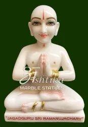 White Marble Ramanujacharya Maharaj Statue
