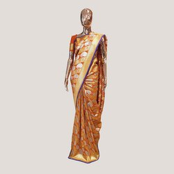 Orange Jari Katan Silk Saree