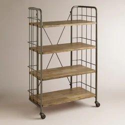 Iron Wooden Industrial Shelf