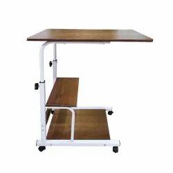 Kawachi  Foldable Height Adjustable Studying Desk Bedside Laptop Table with Bookshelf Storage kw29