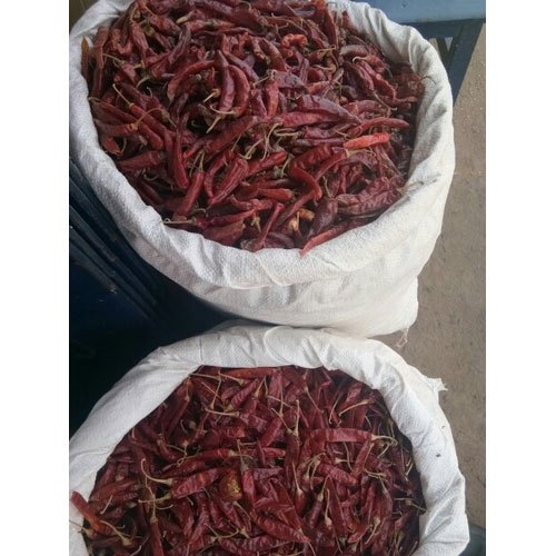 With Stem Dried Red Chilli, Store In Dry Place