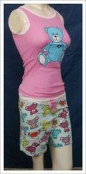 Shorts & Pyjamas Sets Embroidered Ladies Sleep Wear