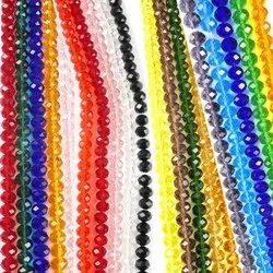 Eshoppee 16 Inch 8mm Diamond Cut Faceted Crystal Beads Strings / Lines