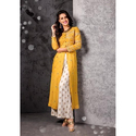 Straight Party Wear Ladies Fancy Long Kurti, Wash Care: Dry Clean, Size: Large