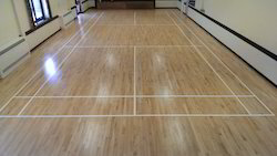 Indian Teak Wood Badminton Court