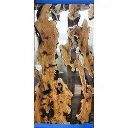 Golden Ratios Live Wood Transparent Wooden Door