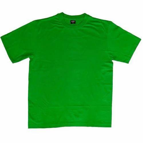 a6b8e8dca Mens Cotton Round Neck Green Plain T-Shirt, Size: S To L, Rs 100 ...