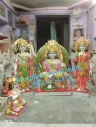 Marble Sitting Ram Seeta Statue