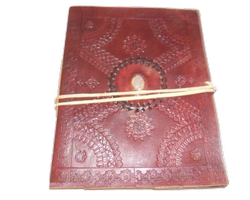 Embossed Designer Stone Leather Journal