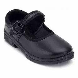 Black Unisex School Shoes, Size: 5-7