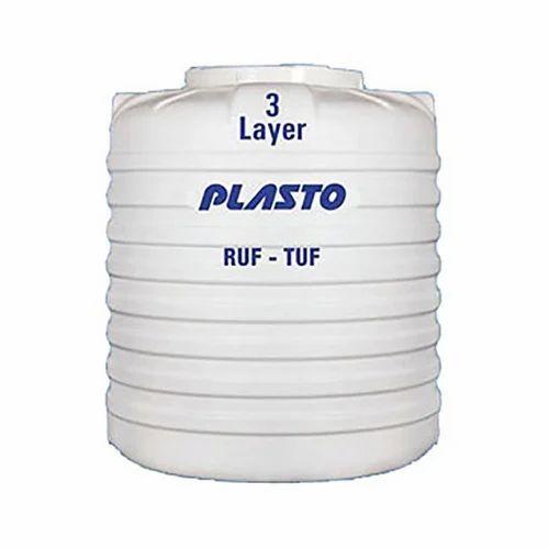 Plasto Three Layer Water Tank Capacity 1000 5000 L Rs 3 9 Litre Id 19844466788