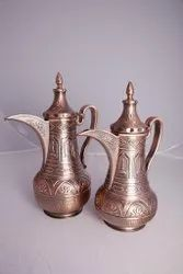 Brass and copper arabic dallah coffee pot