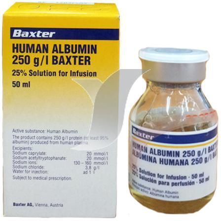 PROTEIN DEFICIENCY - HUMAN ALBUMIN INECTION Exporter from