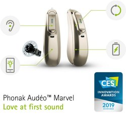 Phonak Audeo Marvel Ric Multi-Functional Hearing Aid
