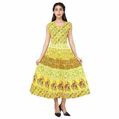 aeec6170017 Large Printed Cotton Midi Dress, Rs 185 /piece, M/s B.G. Fashion ...