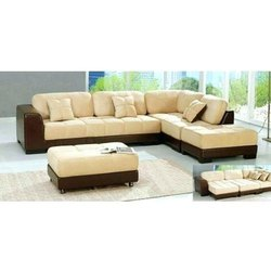 White, Black Wood Fancy Sofa Set
