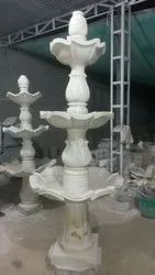 4 Feet White Marble Garden Fountain