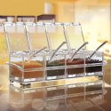Crystal Acrylic Seasoning Box Pepper Salt Spice Rack