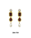 Stone Studded Pearl Earring