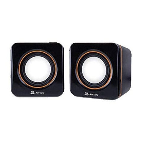 Mercury Melody Black Computer Multimedia Speaker, 20 To 20000 Ohm