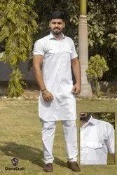 Men's half sleeve punjabi Kurta Pajama