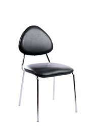Black Without Arm Visitor Chair