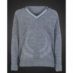 V Neck Plain School Sweater, 9-11 Years