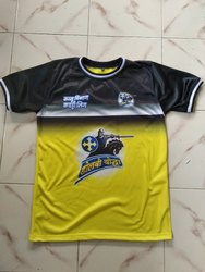 Printed Polyester Sports T-Shirts, Age Group: Size 20-46