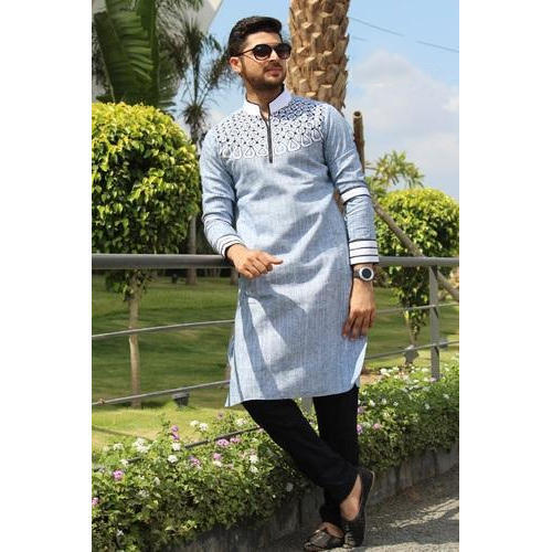 83be0a151a Cotton Designer Long Kurta Pyjama, Rs 3400 /piece, SIR Tailor | ID ...