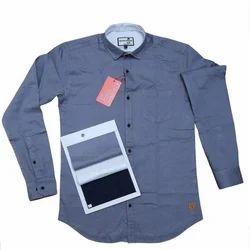 Mens Cotton Full Sleeves Plain Shirt, Size: M-XXL