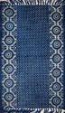 Geometrical Block Print Ikat Dhurrie Carpet in Jaipur