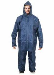 Blue Full Sleeves Rain Coat