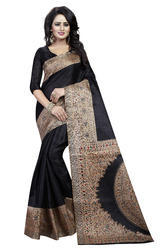 Women's Khadi Silk Kalamkari Saree