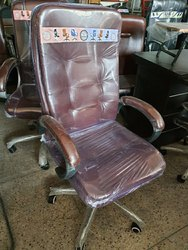 Brown Double Cushion High Back Chair, For Tilting Mechanism