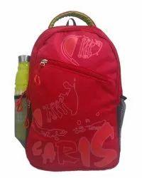 Caris Shoe Print 18 Red Haversack Bag DRH1003