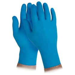 Blue Oil Resistant Rubber Safety Gloves