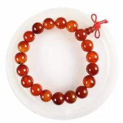 Eshoppee Carnelian Stone Bracelet With Guru Beads