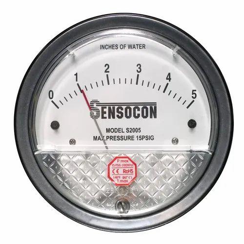 Sensocon Differential Pressure Gauges - Sunpro Instruments