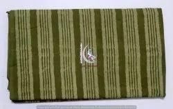 Brown Striped 100% Cotton Block Print Dabu Fabric