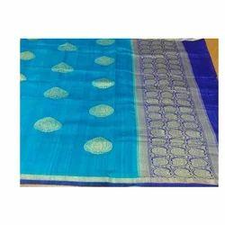 e4dc7b6080906e Neerus Rust Color Banaras Silk Saree - Neeru s Emporio