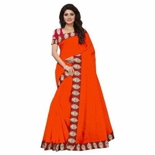 5a90d6b4c3 Online Rahbar Chanderi Silk Ladies Party Wear Saree, 5.5 M (separate Blouse  Piece)