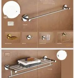 Silver Stainless Steel Bathroom Accessories