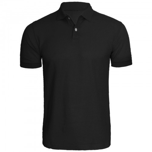 ab18e0ed733e Black Plain Men's Polo Neck T-Shirt, Rs 380 /piece, Sparrk Fashions ...