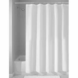 White Plain Shower Curtain, Size: 72 X 80