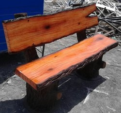 FRP Wooden Finish Garden Bench