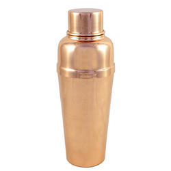 Copper Cocktail Shaker With Built-In Strainer -16 Oz