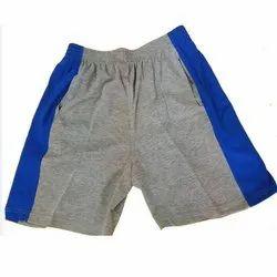 Casual Wear Grey, Blue Kids Sports Hosiery Shorts