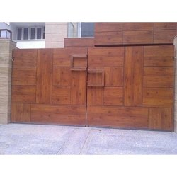 Wallmax Hpl Board Double Security Door, Grade: Ss304, Size: 10x7 Feet