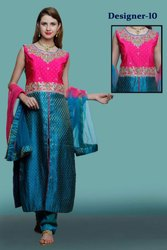 Designer Bollywood Heavy Neck Work Embroidery Ladies Suits