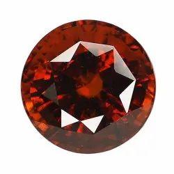 Round Orangey Red Unheated Gomed Stone